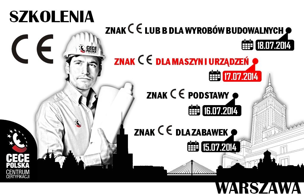 szkolenie znak CE w Warszawie - oznakowanie CE
