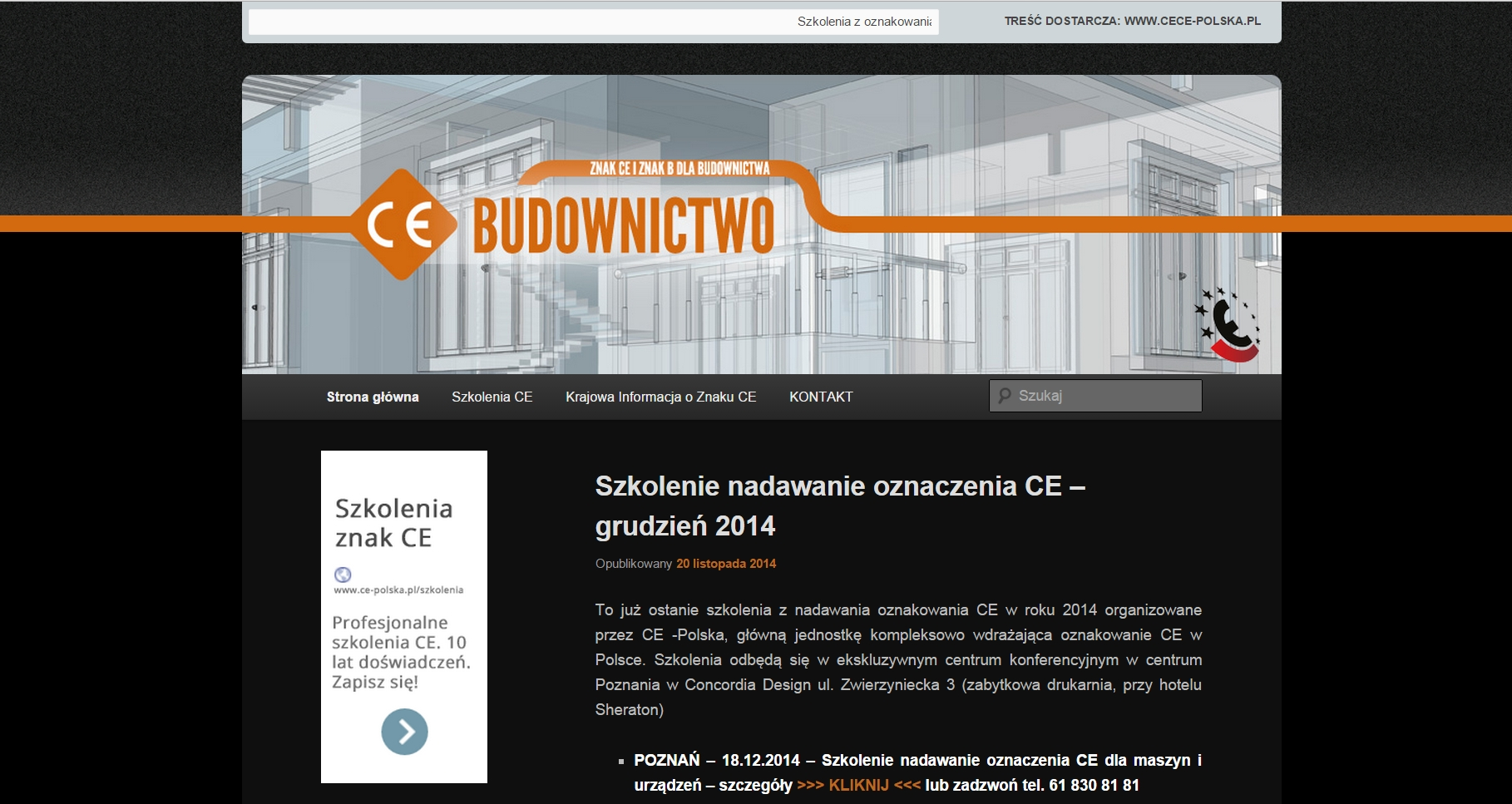 strona startowa ce-budownictwo.pl