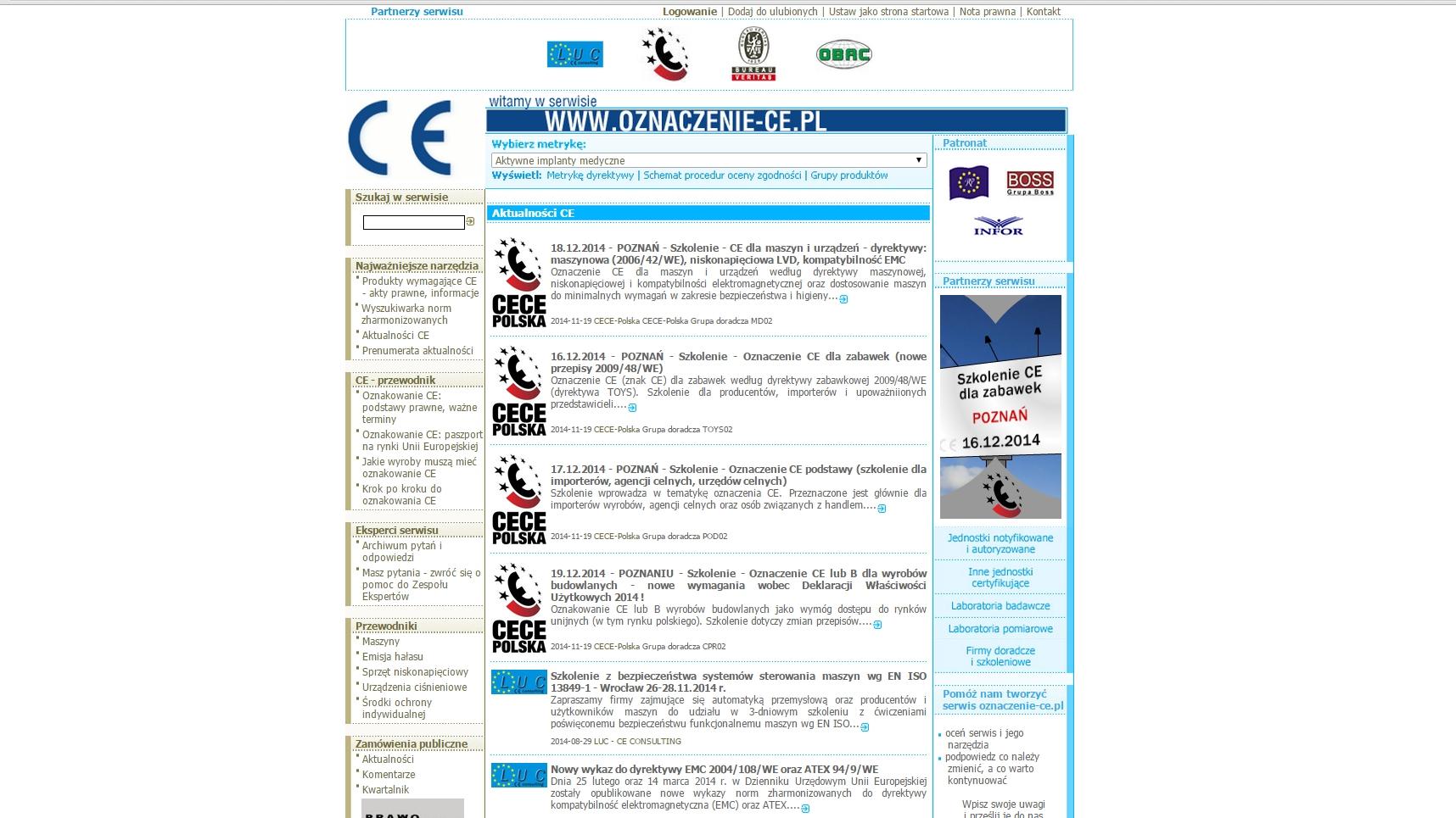 strona startowa www.oznaczenie-ce.pl