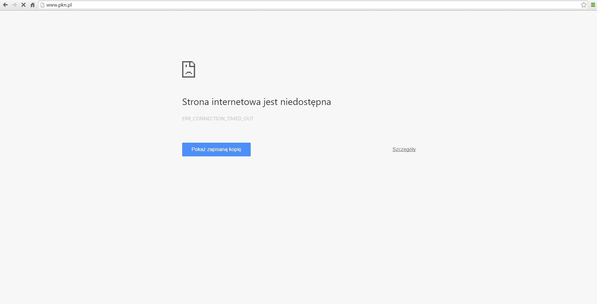 strona PKN znowu nie działa