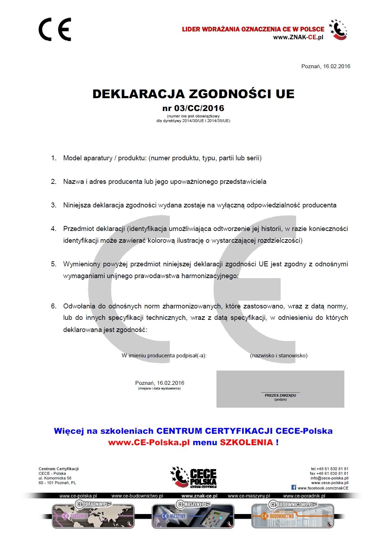 Deklaracja zgodności UE