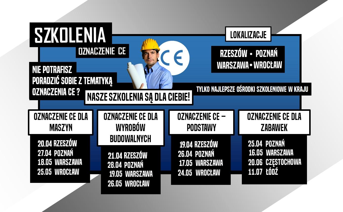 Szkolenia ZNAK CE w Rzeszowie i Poznaniu